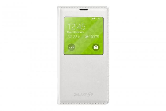 Pouzdra a kryty Samsung pouzdro S-View pro Samsung Galaxy S5,bílá
