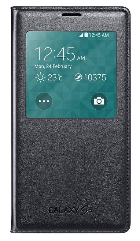 Pouzdra a kryty Samsung pouzdro S-View pro Samsung Galaxy S5, černá