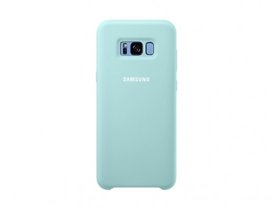 Pouzdra a kryty Samsung Silicone Cover pro S8+ (G955) Blue