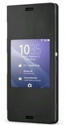 Pouzdra a kryty Sony flip pouzdro pro Sony Xperia Z3 Compact, černá ROZBALENO