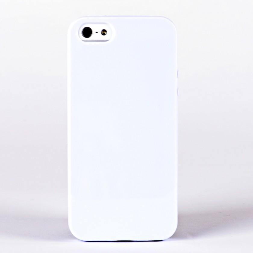 Pouzdra a kryty Winner Group gelskin + fólie pro iPhone 5, bílá
