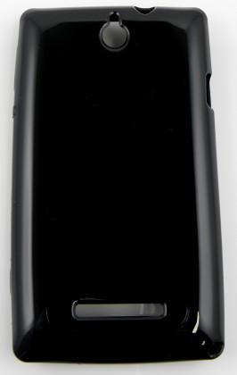 Pouzdra a kryty Winner Group gelskin + fólie pro Sony Xperia E, černá