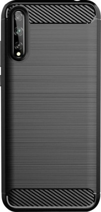 Pouzdra a kryty Zadní kryt pro Huawei P Smart 2020, Carbon, černá