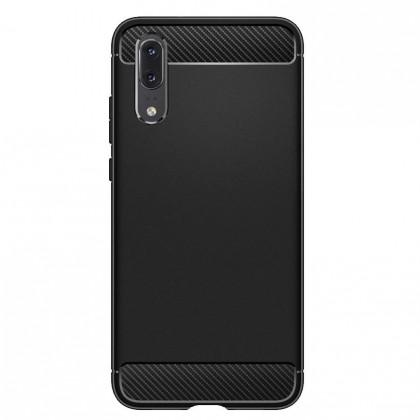 Pouzdra a kryty Zadní kryt pro Huawei P20, karbon, černá