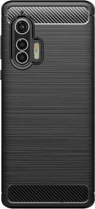 Pouzdra a kryty Zadní kryt pro Motorola Edge Plus, Carbon, černá