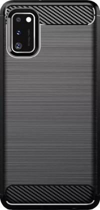 Pouzdra a kryty Zadní kryt pro Samsung Galaxy A41, Carbon, černá