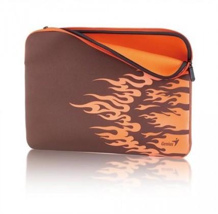 """Pouzdra GENIUS GS-1500, pouzdro na 15-16"""" notebook, Brown/Orange"""