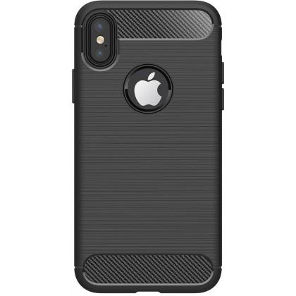 Pouzdra iPhone Zadní kryt pro Apple iPhone XR, karbon, černá