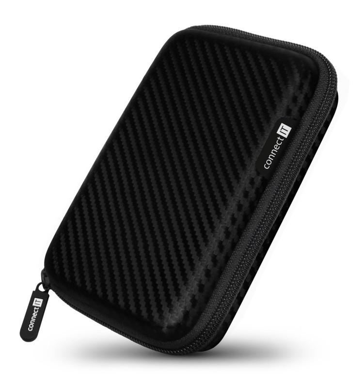 "Pouzdra pro HDD Pevné ochranné pouzdro na 2,5"" HDD Connect IT CFF5000CA, karbon"