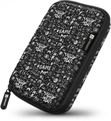 """Pouzdra pro HDD Pevné ochranné pouzdro na 2,5"""" HDD Connect IT CFF5000DD, Doodle"""