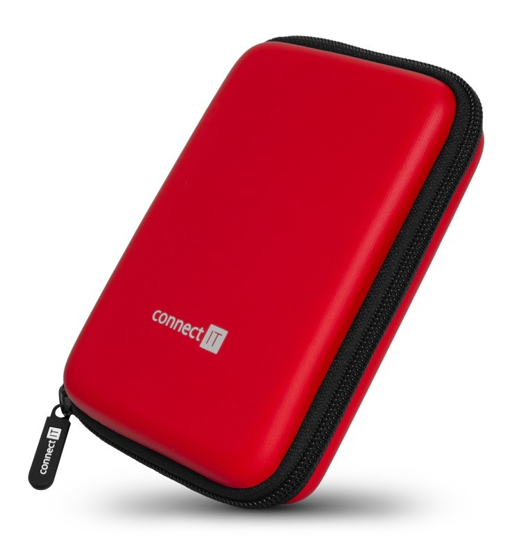 "Pouzdra pro HDD Pevné ochranné pouzdro na 2,5"" HDD Connect IT CFF5000RD, červené"