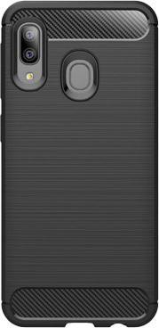 Pouzdra Samsung Pouzdro Carbon Samsung A20e, černá
