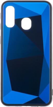Pouzdra Samsung Zadní kryt pro Samsung Galaxy A40, 3D prismatic, modrá ROZBALENO