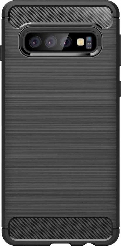 Pouzdra Samsung Zadní kryt pro Samsung Galaxy S10, karbon, černá