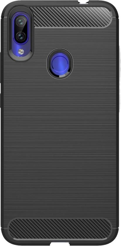 Pouzdra Xiaomi Pouzdro Carbon Redmi Note 7, černá