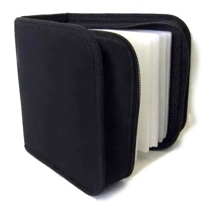 Pouzdro na 48 CD NN box, zapínací, černé