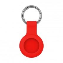 Pouzdro pro AirTag, silikon, červená