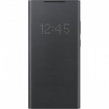 Pouzdro pro Samsung Galaxy Note 20, LED view flip, černá