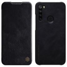 Pouzdro pro Xiaomi Redmi Note 8, kožený, černá