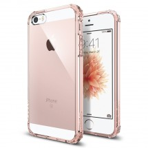 Pouzdro SPIGEN Crystal Shelll iPhone SE/5s/5 crystal rose