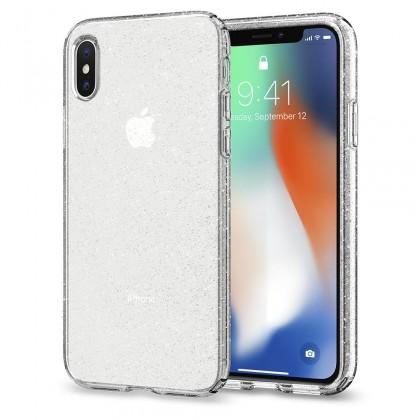 Pouzdro SPIGEN Liquid Crystal Glitter iPhone X, crystal