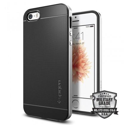 Pouzdro SPIGEN Neo Hybrid iPhone SE/5s/5 silver