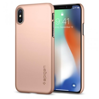 Pouzdro SPIGEN Thin Fit iPhone X rose gold