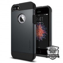 Pouzdro SPIGEN Tough Armor iPhone SE/5/5s metal slate