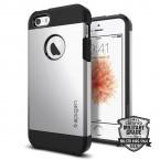 Pouzdro SPIGEN Tough Armor iPhone SE/5/5s stříbrné