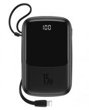 Powerbanka Baseus, Qpow, 10 000mAhs Lightning kabelem3A, černá