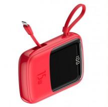 Powerbanka Baseus, Qpow, 10 000mAhs Lightning kabelem3A, červená