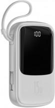 Powerbanka Baseus, Qpow, 10 000mAhs USB-C kabelem, 3A, bílá