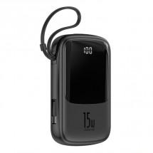 Powerbanka Baseus, Qpow, 10 000mAhs USB-C kabelem, 3A, černá