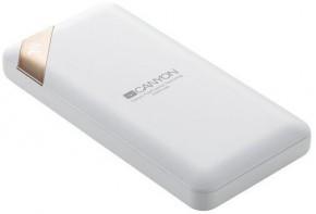Powerbanka Canyon 10000mAh, Li-Pol, displej,  Smart IC, bílá