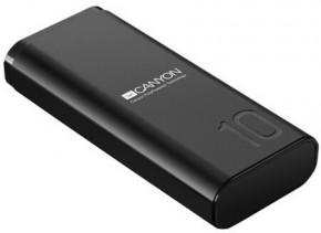 Powerbanka Canyon 10000mAh, Li-Pol,  Smart IC, černá