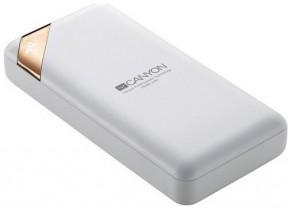 Powerbanka Canyon 20000mAh, Li-Pol, displej,  Smart IC, bílá