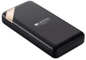 Powerbanka Canyon 20000mAh, Li-Pol, displej,  Smart IC, černá