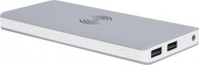 Powerbanka s bezdrátovým nabíjením Bigben 8000mAh, šedá