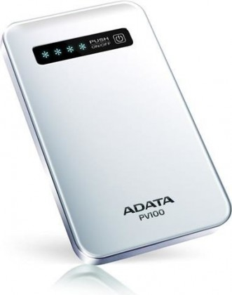 Powerbanky ADATA PV100 Power Bank 4200mAh, bílá