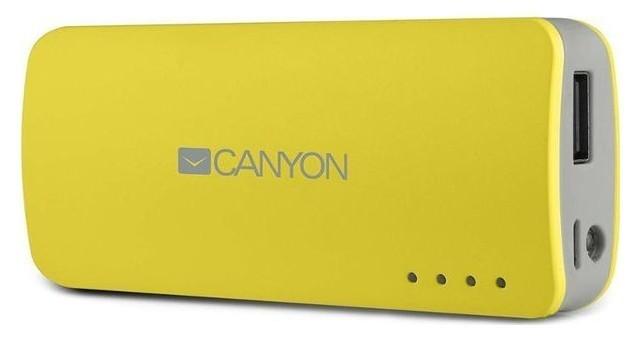Powerbanky Canyon CNE-CPB44 Power Bank 4400mAh, žlutá
