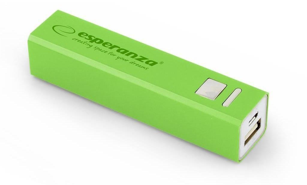 Powerbanky Esperanza EMP102G ERG externí baterie 2400mAh, zelená