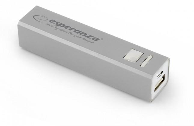 Powerbanky Esperanza EMP102S ERG externí baterie 2400mAh, šedá