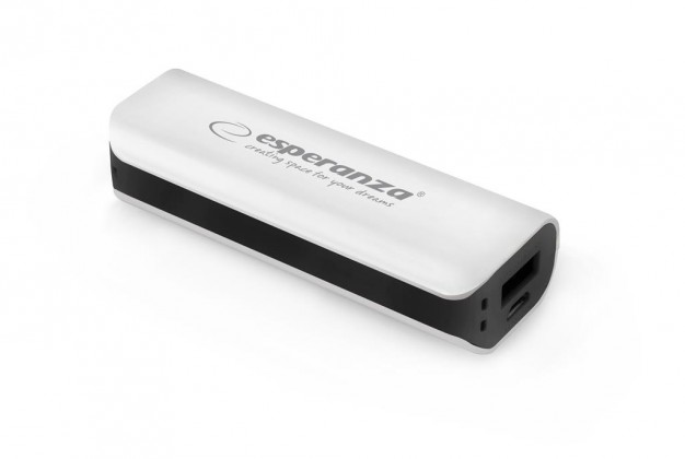 Powerbanky Esperanza EMP103WK JOULE externí baterie 2200mAh, bílo-černá