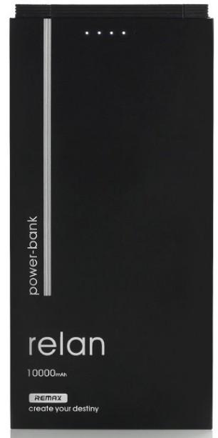 Powerbanky Powerbanka Remax RELAN 10000mAh s Lightning kabelem, černá