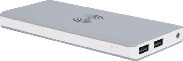 Powerbanky Powerbanka s bezdrátovým nabíjením Bigben 8000mAh, šedá