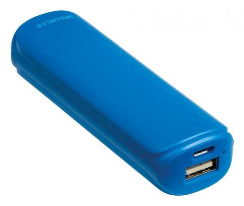 Powerbanky VALUELINE 2200mAh, 5V, 1A, modrý (VL2200PB001BU)