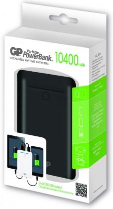 Powerbanky Záložní zdroj energie GP 10400mAh černý (GL301B) ROZBALENO