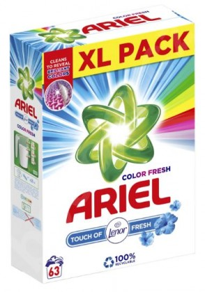 Prací prášek Ariel A000013367, Touch of Lenor, 63 dávek