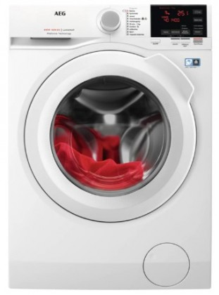 Pračka předem plněná Pračka s předním plněním AEG L6FBG49WC, A+++