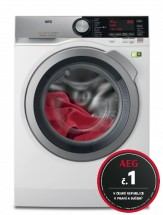 Pračka s předním plněním AEG SoftWater L9FEC49SC, A+++, 9 kg + rok praní zdarma